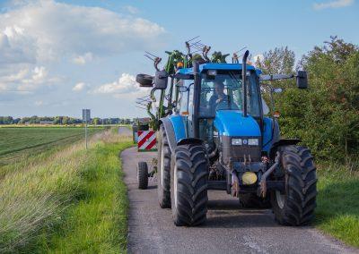 TS110  tractor met krone schudder