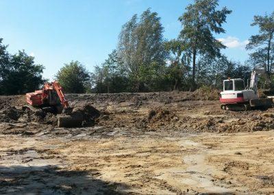 Vijver uitgraven